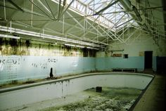 Penarth Baths, an abandoned Victorian swimming pool complex in Wales Adaptive Reuse, Abandoned Places, Old Houses, Playground, Wales, Luxury Homes, Children Laughing, Swimming Pools, Water Parks