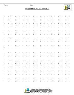 free symmetry worksheets line symmetry template 4