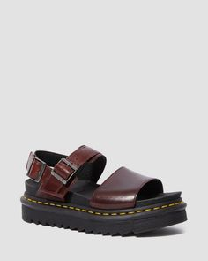 Dr. Martens, Strap Sandals, Shoes Sandals, Black Creepers, Martens Style, Goodyear Welt, Beautiful Shoes, T Strap, Footwear