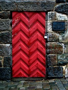 Red door. Oslo, Norway
