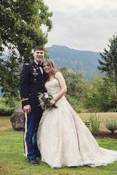 Love The Look Of A Military Wedding Cape Horn Estate Venue Columbia Gorge Skamania WA