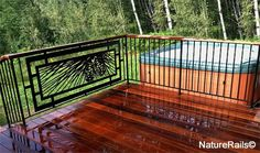 Decorative Deck Railing   Metal Deck Railing   Porch Railing