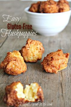 Easy Gluten-Free Hushpuppies. Perfect for a fish-fry party, or even just to whip up as a quick, delicious side!