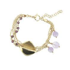 FLORE Statement Armband **SALE** 40,-Euro statt 70,-Euro  #princesslioness #silberschmuck #silberarmband #silber #gold #lila #elegant #niedlich