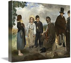 Wall Art Print entitled The Old Musician By Edouard Manet by Celestial Images | 47 x 36