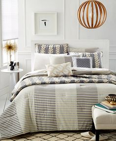 Martha Stewart Whim Collection Two Tone Stripe Bedding Collection Add bright color stripe as the dress