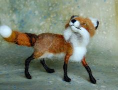 Ember Needle Felted Fox: Day 37