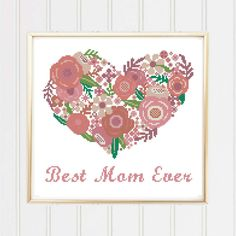 BOGO FREE Best mom ever cross stitch pattern/mother cross stitch/love mom/floral cross stitch/mom gifts/mothers day cross/#02-005 by XStitchMania on Etsy