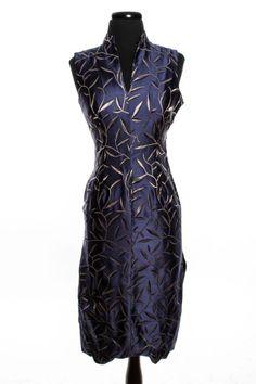 PRADA blue silk chinoiserie dress,  S/S 1997