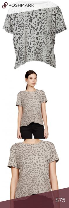 Current Elliot Leopard Crop Top Channel of-the-moment style in this leopard print crop top from cult denim label Current Elliott.  Worn 3-4 times maybe and air dried.  https://www.currentelliott.com/the-freshman-tee-grey-leopard Current/Elliott Tops Crop Tops