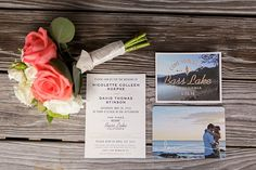 We're in love with this couple's stunning invitation suite!
