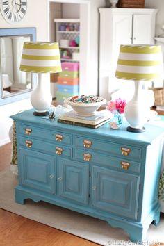 Beautiful dresser {painted} dresser makeover @Diane Henkler {InMyOwnStyle.com}