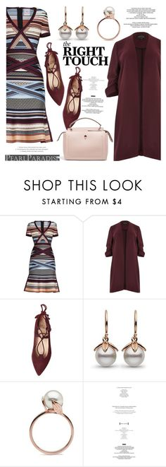"""""""The right touch!"""" by pearlparadise ❤ liked on Polyvore featuring Hervé Léger, River Island, StyleNanda and Fendi"""