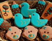 Cute cookies for baby shower