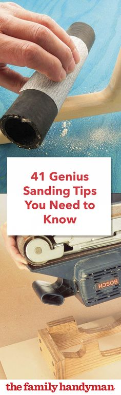 Woodworking Jigsaw 41 Genius Sanding Tips You Need to Know - Save yourself some time and hassle during your next woodworking project with one (or of these genius sanding tips from editors and readers Woodworking Jigsaw, Learn Woodworking, Woodworking Techniques, Woodworking Plans, Woodworking Projects, Woodworking Furniture, Sanding Furniture, Woodworking Tools For Beginners, Woodworking Equipment