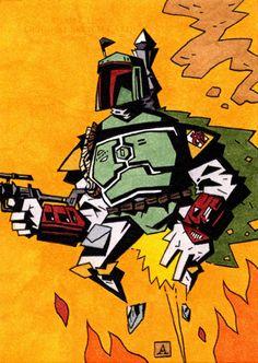 Boba Fett by soliton on DeviantArt Jango Fett, Star Wars Boba Fett, Star Wars Rebels, Star Wars Poster, Star Wars Art, Star Trek, Star Wars Bounty Hunter, Guys Read, Episode Iv