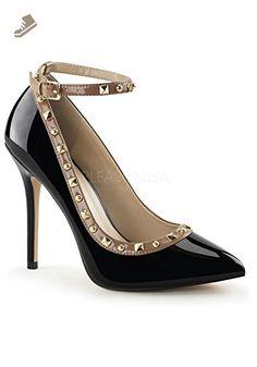 4e88eb938d8 Pleaser Women s Amuse 28 Black Fashion Pumps 13 M - Pleaser pumps for women  (