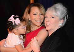 Three generations: grandmother Patricia Hickey-Carey, mother Mariah Carey-Cannon, and daughter Monroe Cannon.