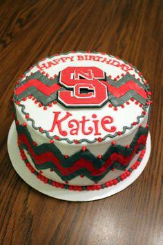 NCSU Chevron Birthday Cake