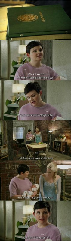 """That just 'A' through 'E'."" Mary Margaret and Elsa #OnceUponATime"