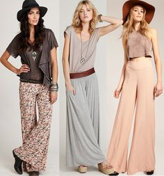 Palazzo Pants Suit Evening Wear | Palazzo pants are huge for spring/summer 2012 - LOVE the one in the center.