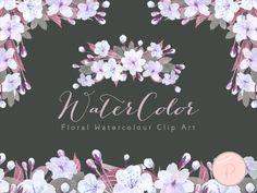 wca35 romantic-wedding-flower-cliparts-purple-lavender-lilac