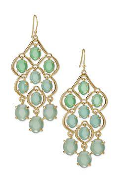 Green Stone Chandelier Earrings | Hannah Chandeliers | Stella & Dot http://www.stelladot.com/YasmineB