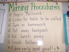 Classroom Procedures: suggestion: create some of your own and present to the students (PP)
