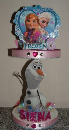 FROZEN Centerpiece w/ Anna Elsa & Olaf Disney's by CandyFlorist
