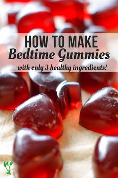 Help your kids sleep with these healthy bedtime gummies. With three simple ingredients, these Bedtime Gummies are sweetened with raw honey for extra nutrition and are overall a great Paleo & GAPS treat. Gaps Diet Recipes, Kitchen Recipes, Real Food Recipes, Snack Recipes, Healthy Recipes, Fodmap Recipes, Candy Recipes, Family Recipes, Yummy Recipes