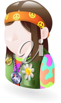 iCLIPART - Royalty Free Clipart Image of a Hippie