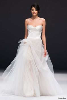 jenny lee #bridal fall 2015 strapless gown