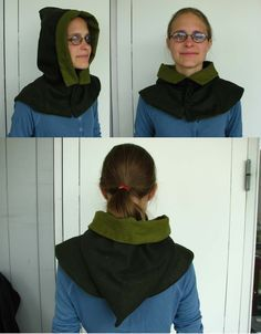 London Hood - tutorial to make authentic medieval hood. This hood could work with the cape I want to make. I could maybe make a hoodless cape plus a hood with its own mini cape as a separate item. Medieval Costume, Medieval Dress, Medieval Clothing, Costume Tutorial, Cosplay Tutorial, Historical Costume, Historical Clothing, Sewing Tutorials, Modeling