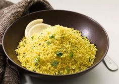 Bon appetit | Couscous w/ fresh cilantro and lemon juice - must try since overload of fresh cilantro in the garden!