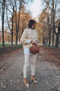 beige look, fall outfit, shoes of prey, chicwish, cristina surdu, brown bag