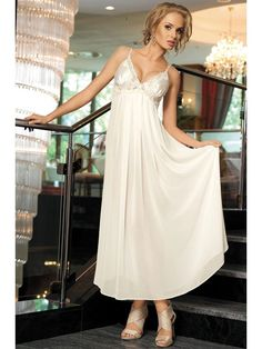 белая Длинная сорочка MIA-MIA - Milady