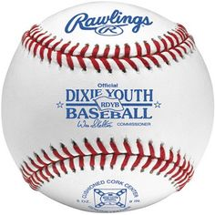 Rawlings Dixie Youth League-Tournament Grade Baseball, White