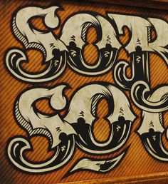 Typography Works by Pale Horse , via Behance
