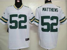 Green Bay Packers #52 Clay Matthews White Elite NFL Jersey