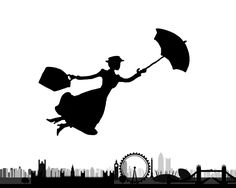 Mary Poppins...flying over the modern day London, though:)