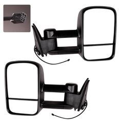 Fits 99-07 Ford SuperDuty Left Driver Man Mirror Tow w//Telesc Dual Double Swing