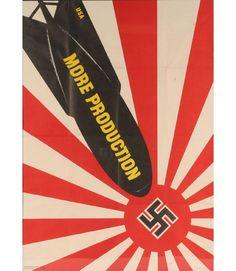 Vintage WWII propaganda poster U.S. Government Printing Office, 1942, War Production Board, Washington, D.C.