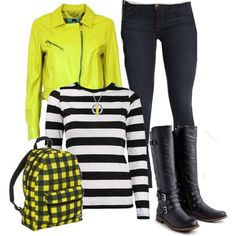 An outfit inspired by Power Rangers 2017's Trini Kwan (Becky G). Items by Rebelle, Saks Fifth Avenue, and more!