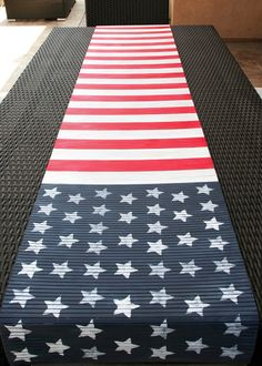 DIY~ Make a Flag Table Runner