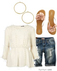 """""""cream rose"""" by taytay-268 on Polyvore"""
