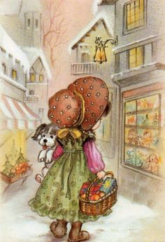 Sarah Kay, Winter Pictures, Cute Pictures, Machine Embroidery Projects, Holly Hobbie, My Childhood Memories, Printable Designs, Whimsical Art, Cool Artwork