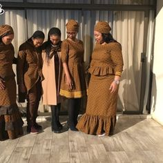 shweshwe dresses in different colors When it comes to shweshwe dresses, you should in no case carelessness them. African Wear, African Women, African Dress, African Fashion, Shweshwe Dresses, Beach Dresses, Different Colors, Fur Coat, Dressing