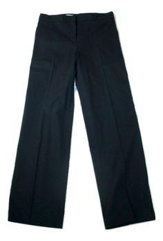 Jil Sander Black Cotton Pants Size 38 #JilSander #DressPants