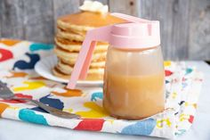How to Make Brown Sugar Sauce | The Kitchen Magpie Homemade Pancake Recipe No Eggs, Best Homemade Pancakes, Homemade Syrup, Tasty Pancakes, Make Brown Sugar, Brown Sugar Syrup, How To Make Brown, Pancakes From Scratch, How To Make Pancakes