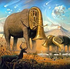 """The Elephants"", 1948, Salvador Dalí"